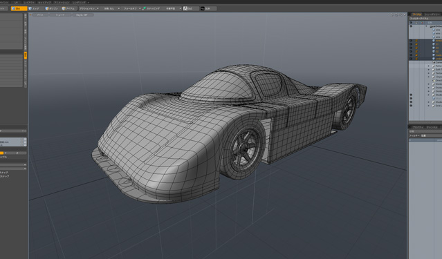 Le Mans Rececar Modelingチュートリアル購入しました。MODO501
