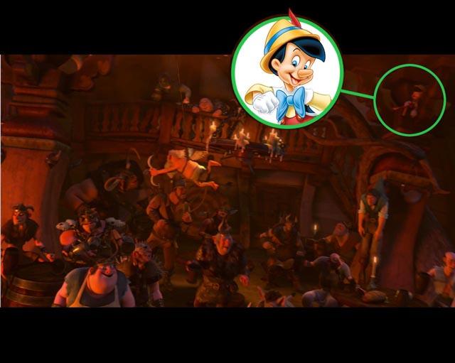塔の上のラプンツエルにピノキオがいた!画像あり