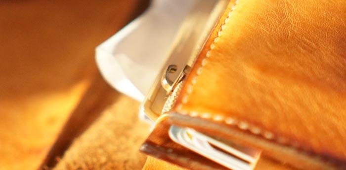 イルビゾンテの財布に付いてたファスナーの取っ手が無くなった・・・。