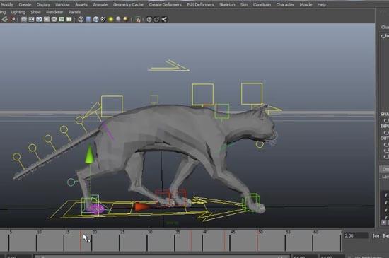 わずか40分たらずで、MAYAを使い猫の歩き方をアニメーションするチュートリアル動画。