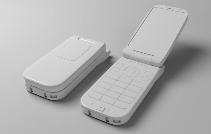 MODOで携帯電話作ります モデリング大体完成