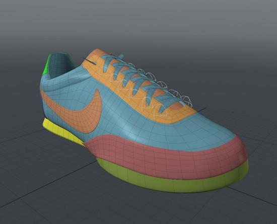 MODOでNIKEシューズ 04 靴ひも作ります〜マグネットが便利。