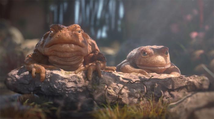 最後が切ない。。ハエを見つけてテンションが上がるカエルの3DCG短編動画。「Locked up」