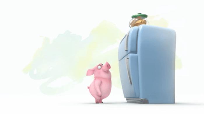 どうしてもそのクッキーが欲しい豚の短編映像「Ormie」