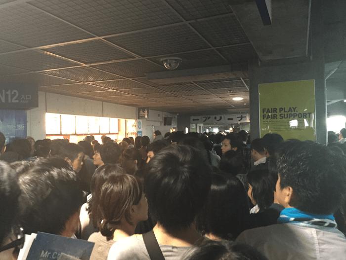 2015年9月5日 未完 ミスチル日産スタジアムツアー新横浜の混雑状況はこんな感じでした!