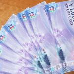 今年2度目!クレジットカードを使って1万円の商品券をもらいました。