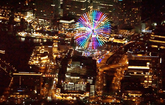 横浜の夜をヘリコプターで観光するスカイクルーズが幸せの10分でした。感想