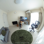 360度カメラで自分の部屋を撮影してみました。