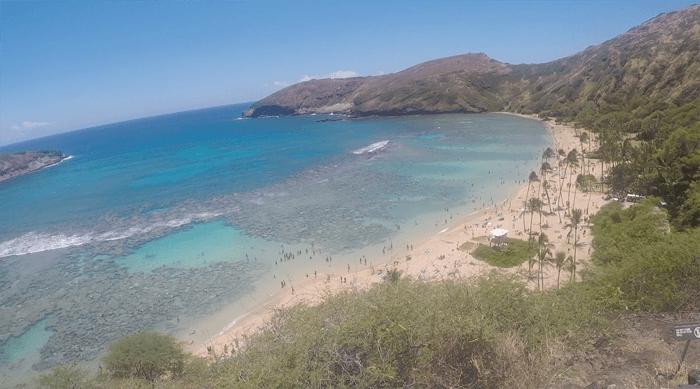 2017年4月 ハワイ旅行4日目 ハナウマベイはお魚が少ない海でした。