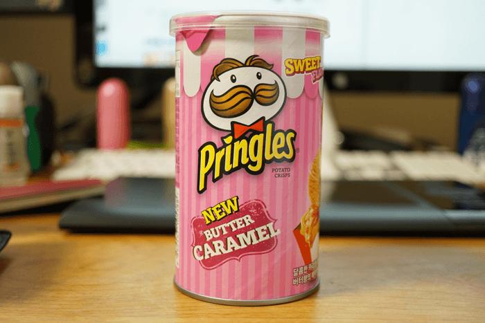 韓国の限定プリングルス バターキャラメル味が美味しい!