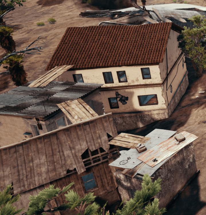 PUBG 新しい砂漠マップは家の屋根を板で歩く事が可能になる!画像あり