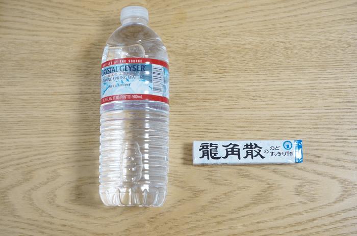 喉が痛くなったので龍角散の飴を水にとかして飲んでみました。