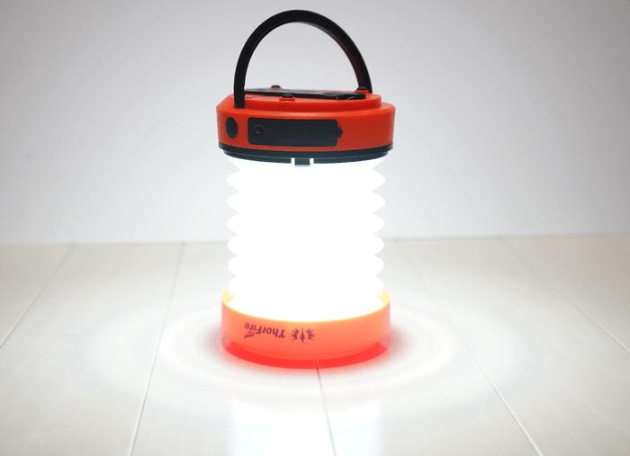 【防災グッズ】電池不要で手回し充電式LEDランタン ThorFireを買いました。レビュー